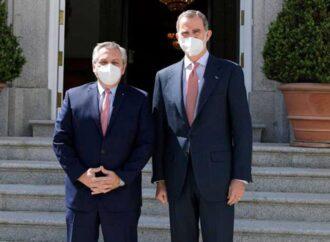 Alberto Fernández se reunió con el rey Felipe VI para buscar su apoyo en la negociación con el FMI