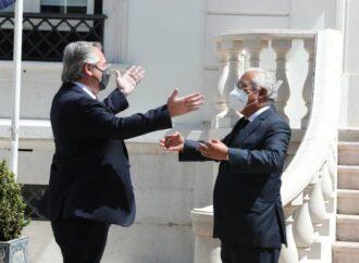 Portugal: peronismo, tango, fado y Piazzolla, el entretenido almuerzo de Alberto Fernández y Antonio Costa