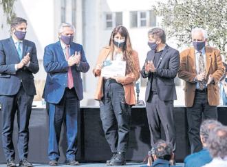 Campaña. El Presidente apuesta al binomio Tolosa-Gollán y critica a Macri